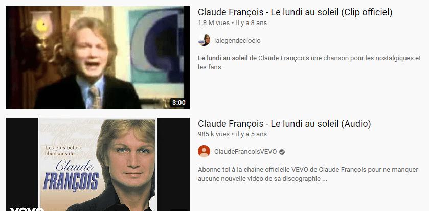 claude francois sur youtube