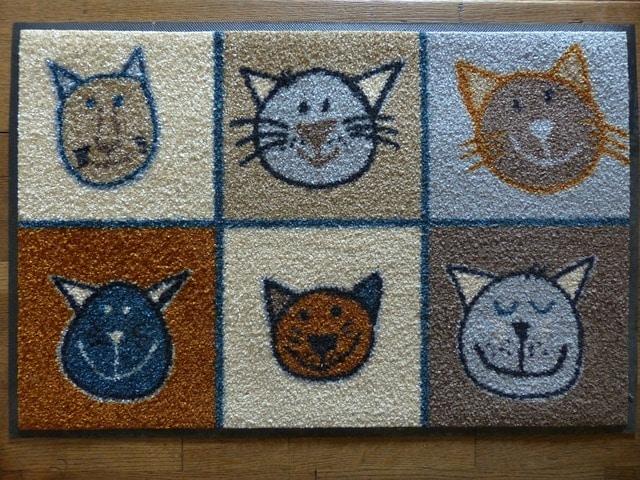 dessin de chat sur un paillasson
