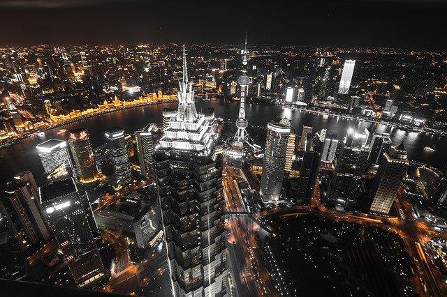 ville chinoise la nuit